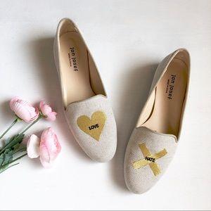 Jon Josef Gatsby Love & Hate linen loafer flats